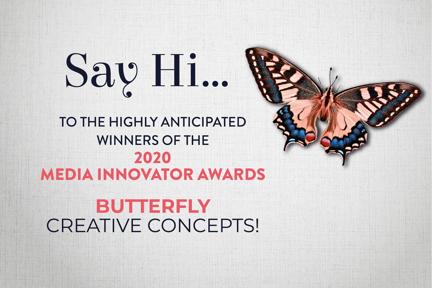 Butterfly Concepts Wins at the 2020 Media Innovator Awards