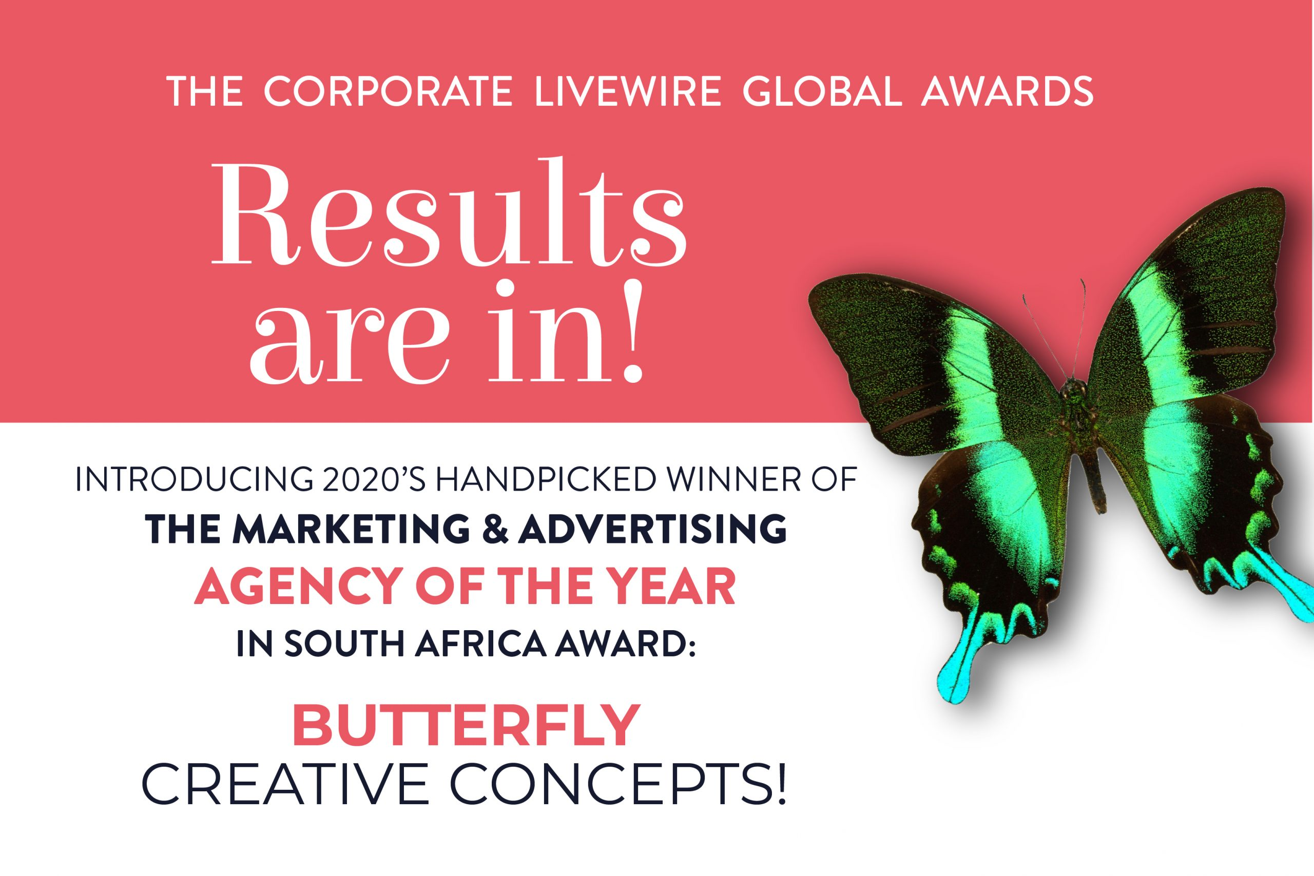 Butterfly Concepts Wins at the Corporate LiveWire Global Awards